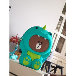 Túi gấu Brown áo khủng long xanh