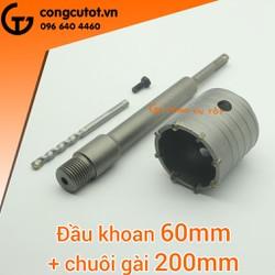 Mũi khoan rút lõi bê tông 60mm-200mm