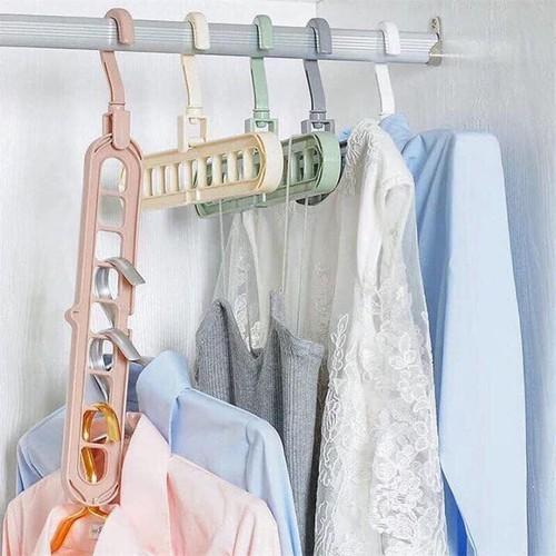 Set 3 móc treo quần áo đa năng 9 lỗ tiết kiệm diện tích