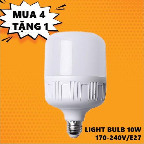 Combo 4 đèn led bulb 10w sáng trắng hopell tặng 1 đèn cùng công suất