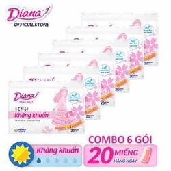Combo 6 BVS Diana hằng ngày 20 miếng mẫu mới ( hàng khuyến mãi dính ít keo)