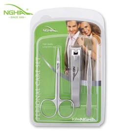 Combo 3-003 Bấm móng tay chân , nhíp và kéo cắt tỉa lông mày Kềm Nghĩa - 03-003