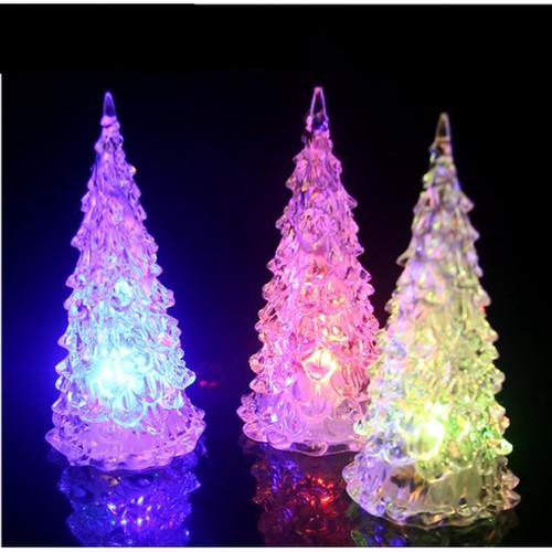 Cây thông noel pha có đèn đổi màu led 14 cm rysi dc4275