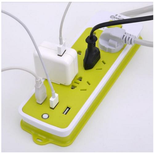 Ổ điện có ổ usb xanh lá 16 lỗ  an toàn tiện dụng