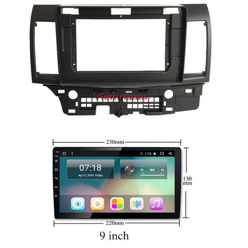 Mặt dưỡng lắp màn hình 10 inc xe mitsubishi lancer 2008-2015