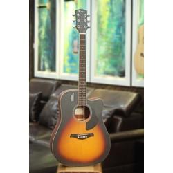 Đàn Guitar Acoustic Rosen Sunburst G11 Gỗ Thịt- Solid top Tặng bao +capo +pic +ty chỉnh cần