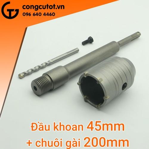 Mũi khoan khoét lỗ bê tông 45mm-200mm