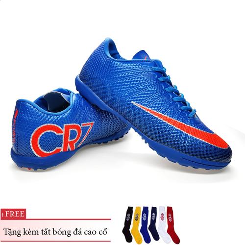 Giày bóng đá trẻ em cr7 size 31-36 tặng kèm tất bóng đá cao cổ