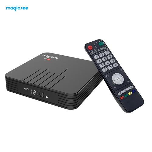 Android tv box magicsee n5 max - ram 4gb, rom atv, dual wifi - đen