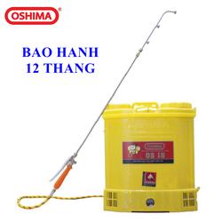 Bình Xịt Điện phun thuốc trừ sâu Oshima OS18, máy bơm thuốc khử trùng chạy acquy, bình xịt điện tưới cây