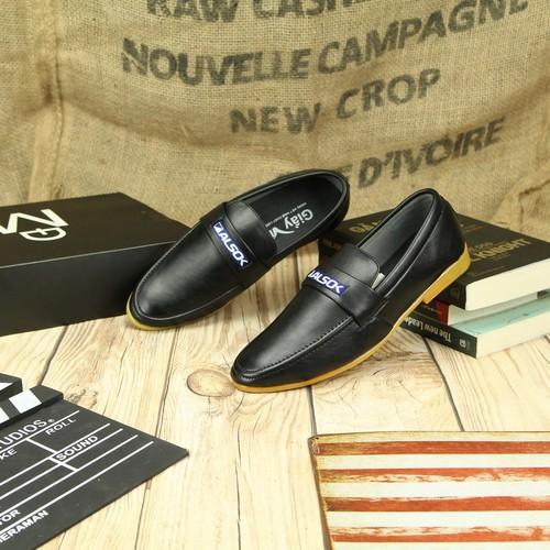 Giày lười vải đế cao su bm335, from chuẩn bán shop black moon chuyên giày da