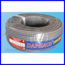 Dây pha mềm 2 lõi ruột đồng vỏ bọc PVC 2x2.5 Daphaco - 5,10,15,20,25 mét - ĐIỆN VIỆT UY TÍN