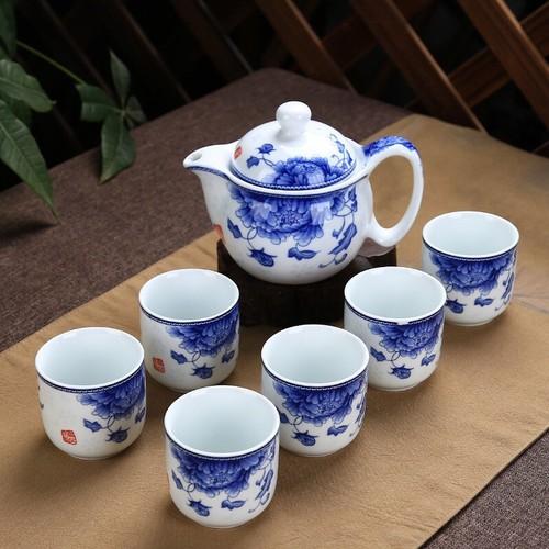 Bộ ấm trà tráng men cao cấp