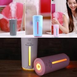 Máy Phun Sương,khuếch tán tinh dầu Hình Cốc có đèn 3 màu dùng cho  Ô TÔ, văn phòng, gia đình... tự động ngắt khi hết nước , sử dụng được từ 7 - 10 h