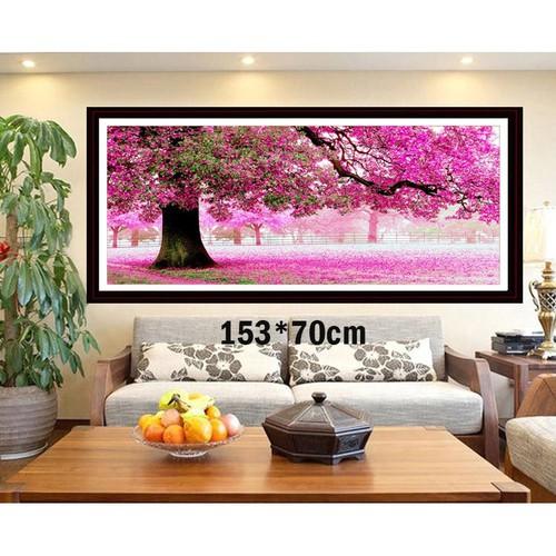 Tranh thêu chữ thập phong cảnh 3d ab253 153x70cm