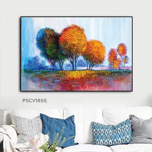 Tranh treo tường – tranh treo tường canvas pasimall color of trees kích thước 40x60cm có khung