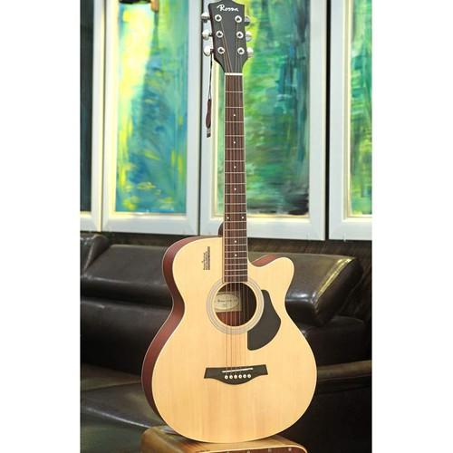 Đàn guitar acoustic rosen g11na-a gỗ thịt - solid top tặng bao +capo+pic +tyc chỉnh cần