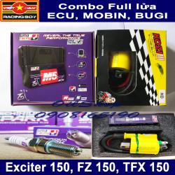 Combo Full Lửa cho Exciter 150, Mx King, FZ 150 2016, TFX 150 - ECU UMA M5 , MOBIN, BUGI