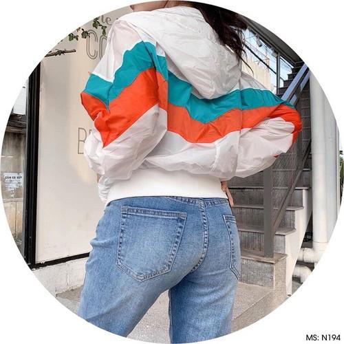 Áo dù from rộng nữ - áo khoác dù