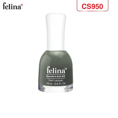 Sơn móng tay felina 18ml - màu xám đen - code cs950
