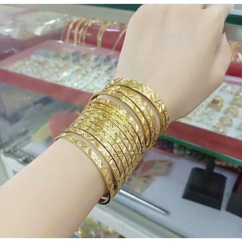 Vòng ximen cao cấp dát vàng 24k khoá khớp bấm bộ 7 chiếc - 11926656 , 19487897 , 15_19487897 , 260000 , Vong-ximen-cao-cap-dat-vang-24k-khoa-khop-bam-bo-7-chiec-15_19487897 , sendo.vn , Vòng ximen cao cấp dát vàng 24k khoá khớp bấm bộ 7 chiếc