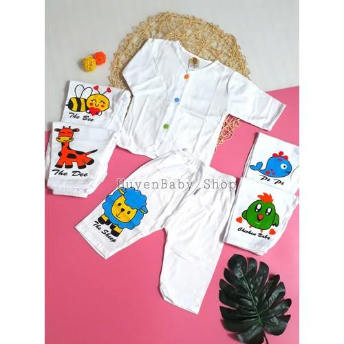 Set 5 Bộ quần áo sơ sinh tay dài cúc nhiều màu, quần in hình đủ size cho bé từ sơ sinh đến 11,5kg - 11186513 , 19464125 , 15_19464125 , 230000 , Set-5-Bo-quan-ao-so-sinh-tay-dai-cuc-nhieu-mau-quan-in-hinh-du-size-cho-be-tu-so-sinh-den-115kg-15_19464125 , sendo.vn , Set 5 Bộ quần áo sơ sinh tay dài cúc nhiều màu, quần in hình đủ size cho bé từ sơ si