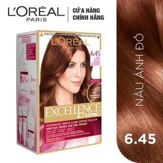 Kem Nhuộm Dưỡng Tóc Phủ Bạc L oreal Excellence Cream 172ml - Màu 6.45 Nâu Ánh Đỏ - 498 thumbnail