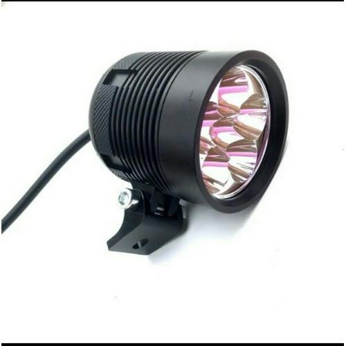 Đèn trợ sáng l6 ánh tím xe máy ôtô siêu sáng