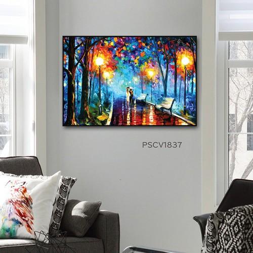 Tranh treo tường – tranh treo tường canvas pasimall color of night kích thước 40x60cm có khung