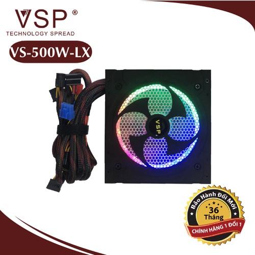 Nguồn máy tính vsp 500w led rgb full bpx- bảo hành chính hãng 36 tháng
