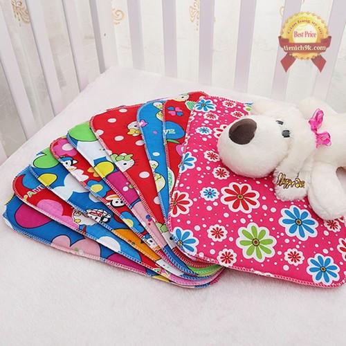 Thảm lót|tấm lót chống thấm 4 lớp điều hòa cho bé trai bé gái