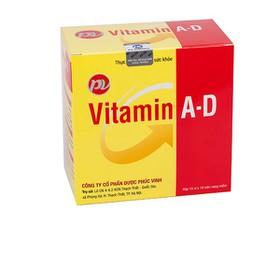 [ COMBO 5 HỘP ] VITAMIN AD PHÚC VINH Bổ sung vitamin A, D giúp phòng ngừa thiếu vitamin A, D cho trẻ em, phụ nữ đang mang thai hoặc cho con bú, người cao tuổi. - 029