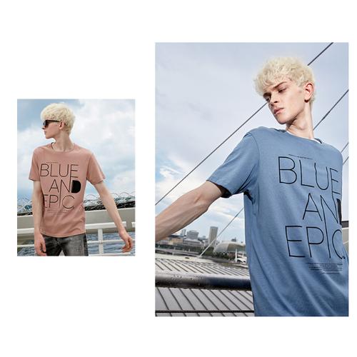 Áo thun nam cotton cá tính in chữ thời trang xuân hè 2019