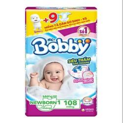 miếng lót bobby sơ sinh newborn 1_108mieng tặng 9 miếng tả dán sx
