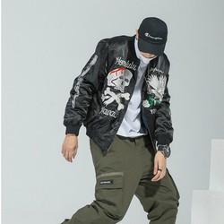 áo khoác bomber đầu lâu đại bàng Mã: NK1411