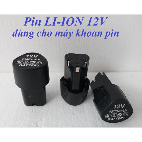 Pin li-ion 12v cho máy khoan pin