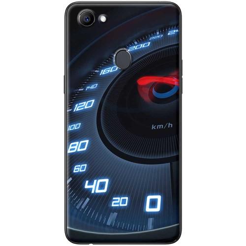 Ốp lưng nhựa dẻo Oppo F7 Tốc độ xanh