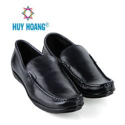 Giày mọi nam Huy Hoàng da bò cao cấp màu đen EH7781