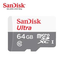 Thẻ nhớ microSDXC SanDisk Ultra 64GB upto 80MBs 533x - Hãng phân phối chính thức