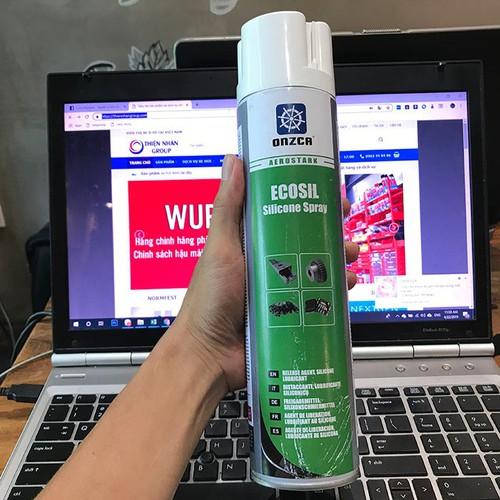 Chai xịt silicone bôi trơn bảo dưỡng cao su, nhựa chống tĩnh điện