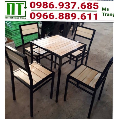 Bàn ghế khung sắt mặt gỗ thanh lý giá rẻ - 11932834 , 19497407 , 15_19497407 , 1480000 , Ban-ghe-khung-sat-mat-go-thanh-ly-gia-re-15_19497407 , sendo.vn , Bàn ghế khung sắt mặt gỗ thanh lý giá rẻ