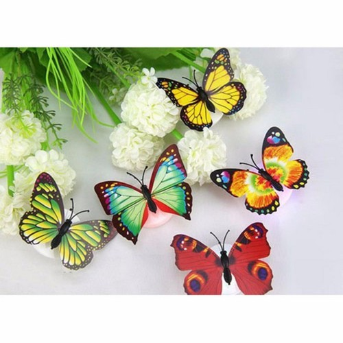 Set 5 đèn led con bướm trang trí nhà siêu đẹp