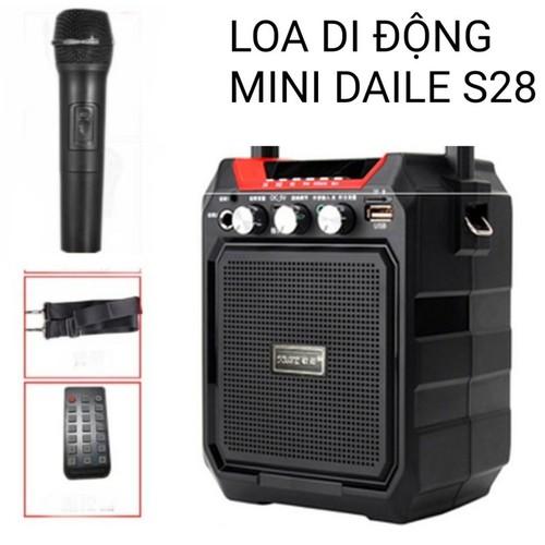 Loa kéo mini Daile S28 tặng kèm micro. - 10637540 , 19494733 , 15_19494733 , 650000 , Loa-keo-mini-Daile-S28-tang-kem-micro.-15_19494733 , sendo.vn , Loa kéo mini Daile S28 tặng kèm micro.