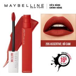 Son Kem Lì Maybelline Super Stay Matte Ink 5ml - Màu 205 Assertive