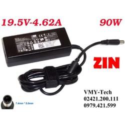 Sạc laptop Dell zin 19.5V 4.62A Chân Kim To Hàng Zin. Chất lượng cao Adapter kèm dây nguồn