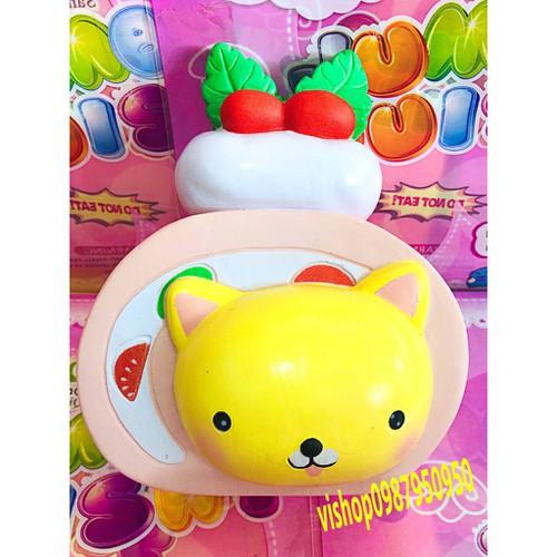 Squishy bánh kem mặt gấu vàng thaolinh950