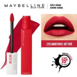 Son Kem Lì Maybelline Super Stay Matte Ink 5ml - Màu 220 Ambitious