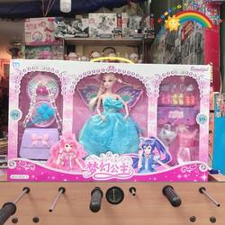Đồ Chơi Trẻ Em Công chúa xanh kèm túi xách  [ĐỒ CHƠI TRÍ TUỆ]