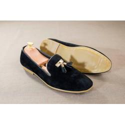 Giày Lười Nam Đẹp Đế Khâu Chuông Vàng Da Buck+ độn đế + M124-LC
