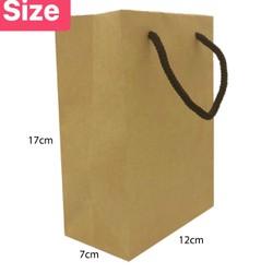 20 túi giấy kraft trơn 12x7x17cm